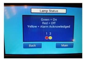 Lamp Status Screen